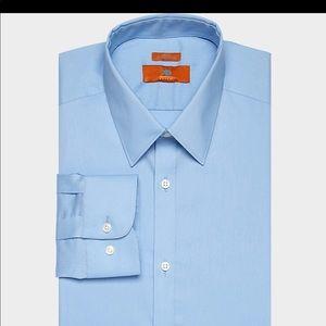 Egara mens Light Blue Extreme Slim Dress Shirt